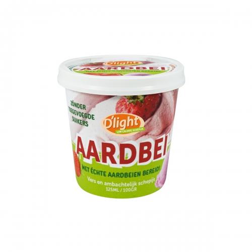delight aardbeien ijs